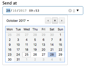 Schedule notification