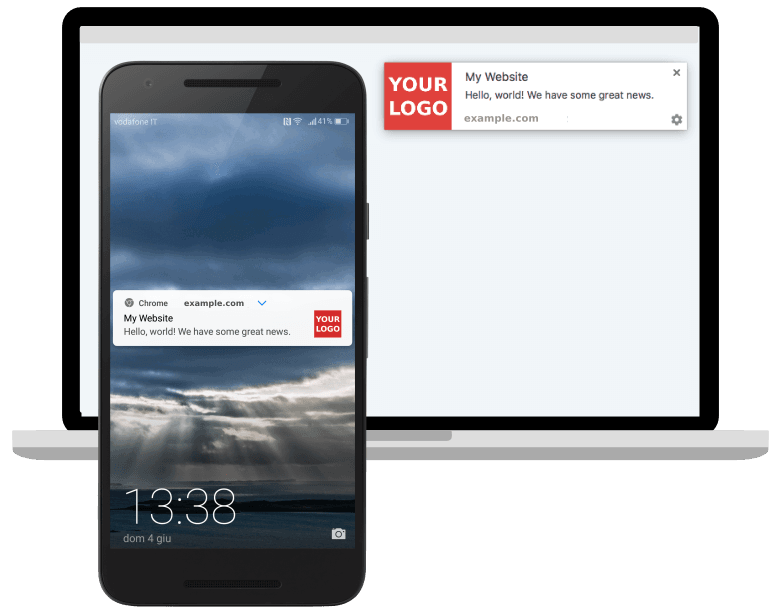 Web push notifications on desktop and mobile
